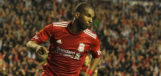 Liverpool's Ryan Babel celebrates his vital winning goal on the stroke of half-time