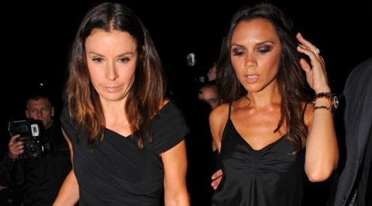 Tana Ramsay and Victoria Beckham drink up the attention at at Gordon Ramsey's Maze restaurant in London (Picture: Eroteme)
