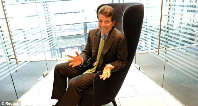 Sitting pretty: Bob Diamond poses for pictures at the Barclays HQ in Canary Wharf