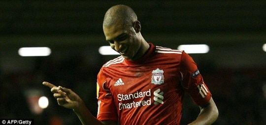 Liverpool's French forward David Ngog