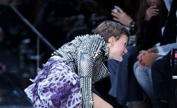 Model takes a tumble during catwalk debut at London Fashion Week