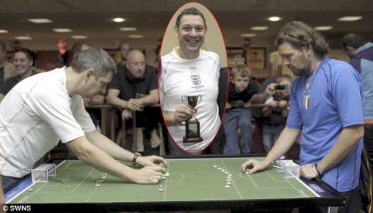 England's Darren Clarke (inset, and left) beat Italy's Massimilano Natasi in the World Cup final