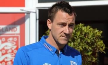 John Terry ruled out of Montenegro game with back injury
