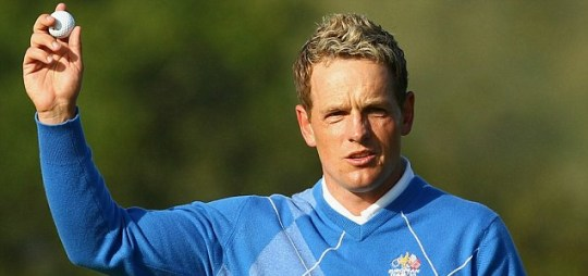 On fire: Luke Donald came out all guns blazing for Europe in the Ryder Cup (Getty)