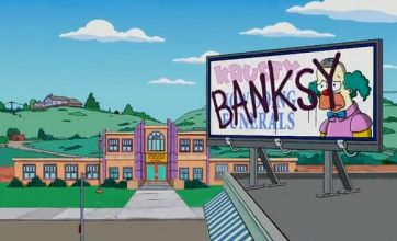Banksy takes over The Simpsons title sequence
