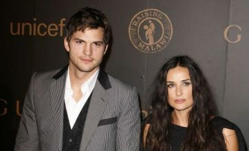 Ashton Kutcher and Demi Moore put on united front in Israel