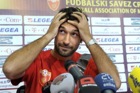Hopeful: Mirko Vucinic is hoping to impress England's top clubs tonight (Pic: EPA)