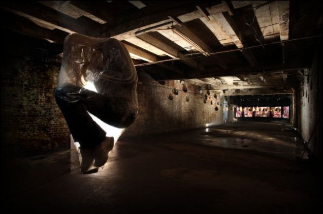 Underground: Mark Jenkins's Chrysalis is on show at Hell's Half Acre