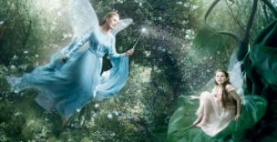 Julie Andrews portrays the Blue Fairy from Disney's Pinocchio with her apprentice fairy - but are there real fairies out there?