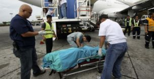Tragedy: A Filipino passenger has been found hanged within the toilet of a Gulf Air plane (Picture: Reuters)