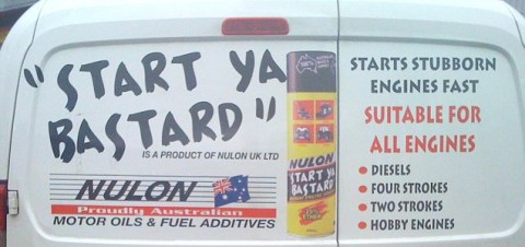 Mechanic warned of prosecution for rude product name on van