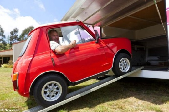 Mechanic shrinks his Mini car to fit inside his motor home | Metro on modular homes, storage container homes, mini homes on wheels, mini modern homes, mini homes for two, micro homes, mini portable homes, mini houses blu homes, mini homes layout, mini cabins and houses, tiny house kit homes, mini trailers, steel container homes, safe prefabricated mini homes, exotic tent homes, mini mini homes and cabins, prefab homes, custom mini homes, mini family homes, mini two story homes,