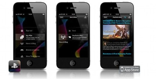 PlayStation will launch the Android and iPhone apps in early 2011 (Pic: Sony PlayStation)