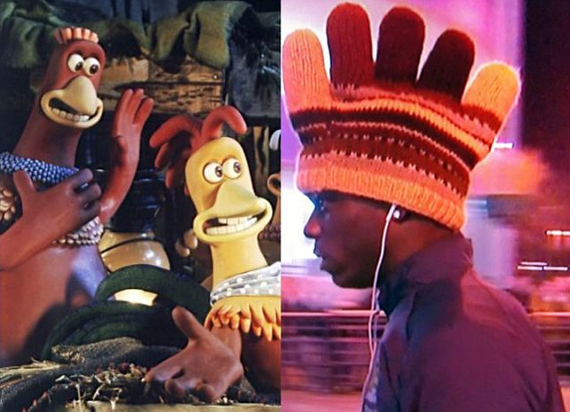 Mario Balotelli and Rocky from Chicken Run - you decide who's who...