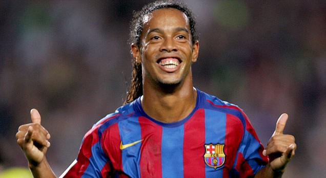 Ronaldinho was at his peak during his time at Barcelona (Pic: Reuters)