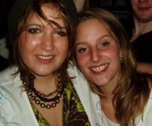 Joanna Yeates (right) with her friend Rebecca Scott (left)