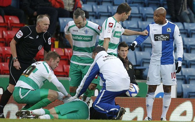 El Hadji Diouf has been accused of abusing QPR's Jamie Mackie as he lay on the ground with a broken leg