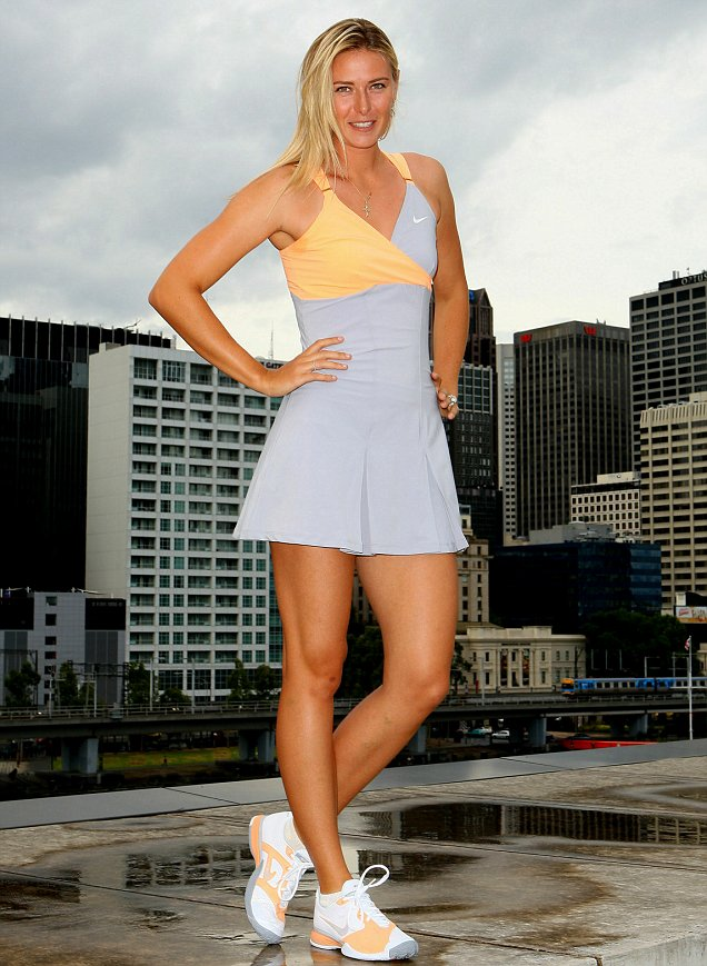 Maria Sharapova has unveiled her new dress design for the 2011 Australian Open (Getty)