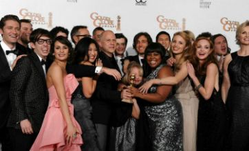 Glee cleans up at Golden Globes with three top gongs