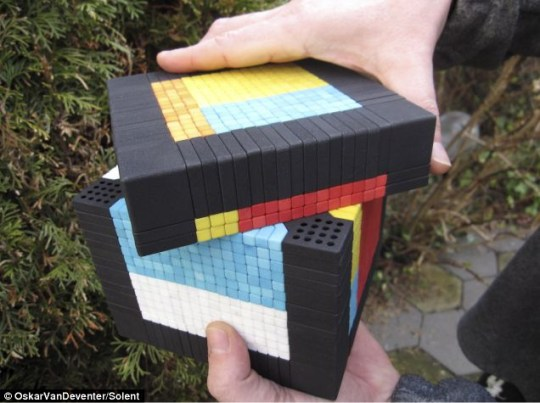 Tricky: The 1,539-piece cube has yet to be solved Picture: Oskar van Deventer/Solent