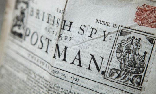A set of 300-year-old newspapers, full of details of 18th century life and death, are to be auctioned. The British Spy includes a weekly total of the number of Londoners who have died