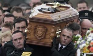 Ronan Kerr was buried earlier this month. (PA)