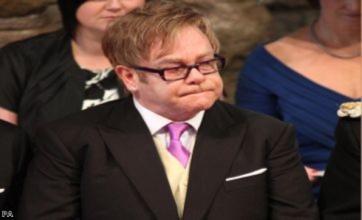 Sir Elton John's tears for Diana at William's wedding