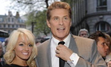 Britain's Got Talent judge David Hasselhoff takes girlfriend Hayley Roberts to Wales
