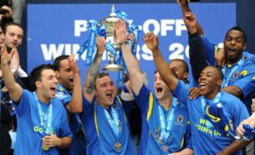 AFC Wimbledon promoted to Football League after beating Luton in shootout