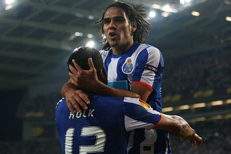 Radamel Falcao (right) and Hulk could be leaving Porto in the summer (Action Images)