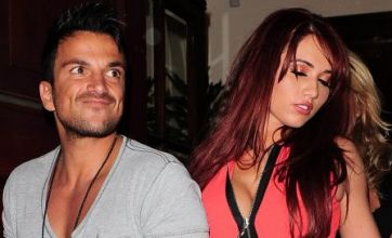 Amy Childs and Peter Andre fool around at party despite rumours