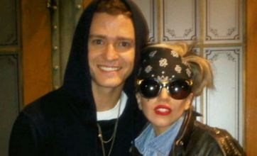 Lady Gaga cosies up to Justin Timberlake – but will they duet?