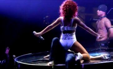 Rihanna kicks off her Loud tour by giving female fan a lap dance – video