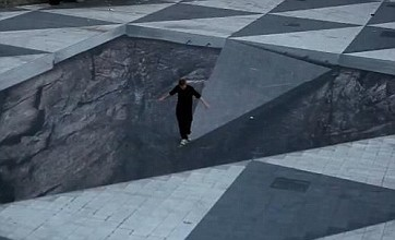 Swedish artist creates giant 3D optical illusion in Stockholm square