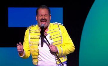 Channel 4 Comedy Gala saw Chris Moyles impersonate Freddie Mercury