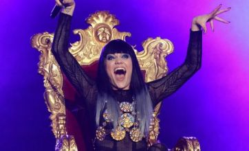 Injured Jessie J performs on throne at Summertime Ball
