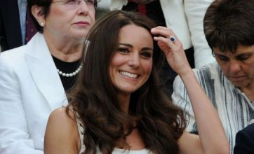 Kate Middleton looks all white as she cheers on Andy Murray at Wimbledon