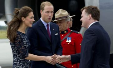 Prince William and Kate Middleton arrive in Canada to flag-waving fans