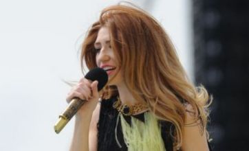 Nicola Roberts in a green feathered dress: Dare to wear?