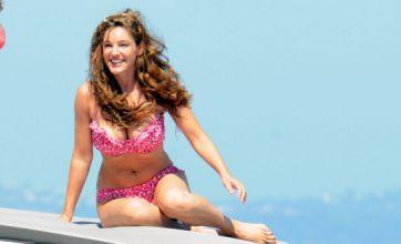 Kelly Brook flaunts figure in floral pink bikini to enjoy last drops of Italian sun