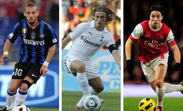 Samir Nasri, Luka Modric and Wesley Sneijder transfers 'all dead' – United chief