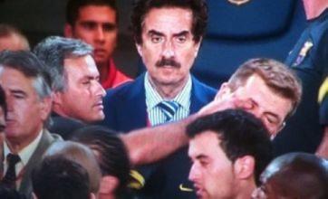 Barcelona v Real Madrid: Fabregas floored and Jose Mourinho 'eye gouge'