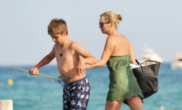 Kate Moss pushes child off pier before going topless for a dip in St Tropez