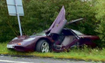 Rowan Atkinson 'rattled' after McLaren F1 car crash