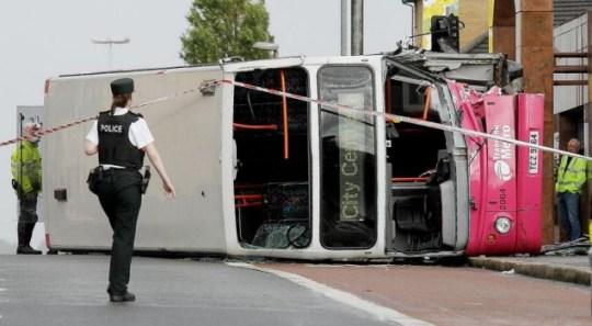 belfast bus, ambulance