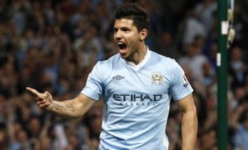 Sergio Aguero strikes double blow for Manchester City in dream debut