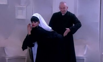 Lady Gaga spanked by Jean Paul Gaultier while dressed as nun