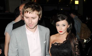 James Buckley looks after pregnant girlfriend at Inbetweeners premiere