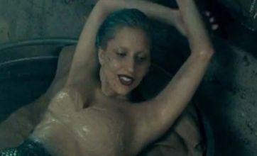 Lady Gaga enjoys half-naked mermaid bath in You and I music video