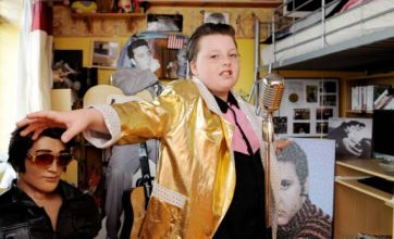 10-year-old Georgia Horn is Britain's youngest Elvis Presley impersonator